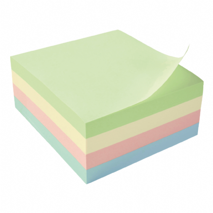 5 Star Office Re-Move Notes Cube - Pastel - 76 x 76mm - 400 Sheets